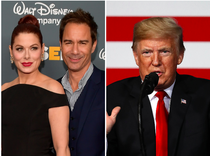'Will & Grace' stars Debra Messing and Eric McCormack call for Hollywood to blacklist those attending Trump fundraiser
