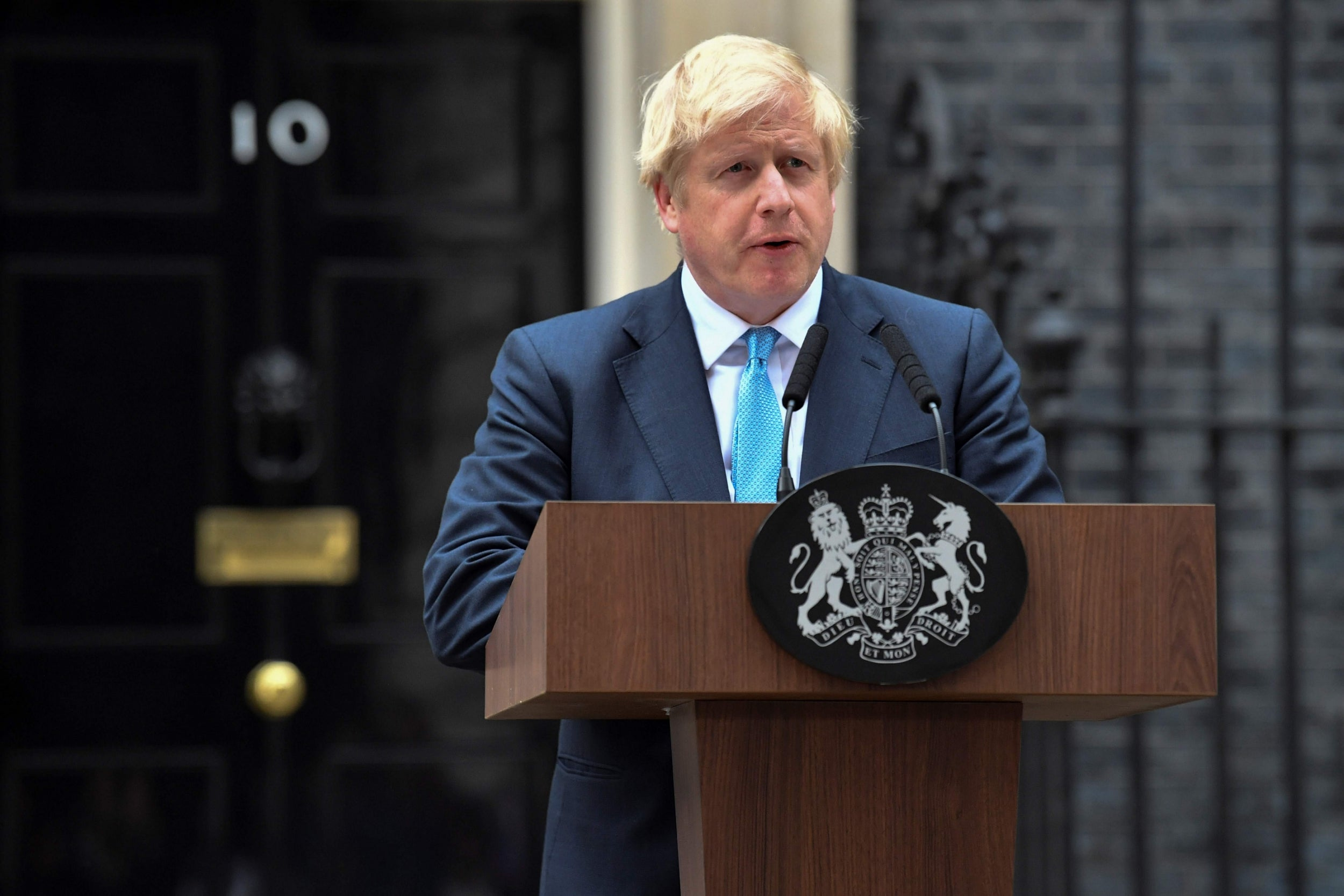 Boris Johnson is a man with nothing to offer and no idea what to do. And so his words outside No 10 were entirely meaningless