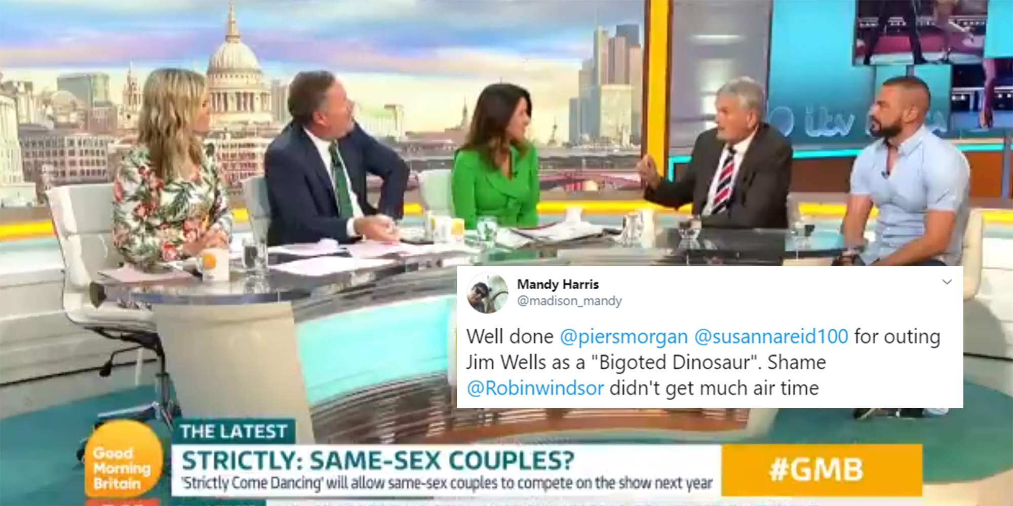 Piers Morgan hits back at DUP politician Jim Wells who said
