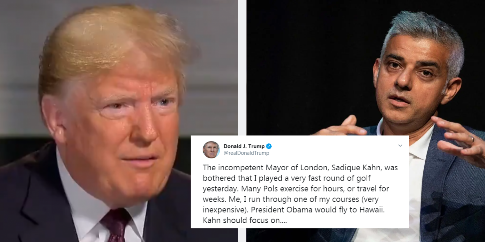 Trump tried to shade Sadiq Khan but just ended up proving he cannot spell