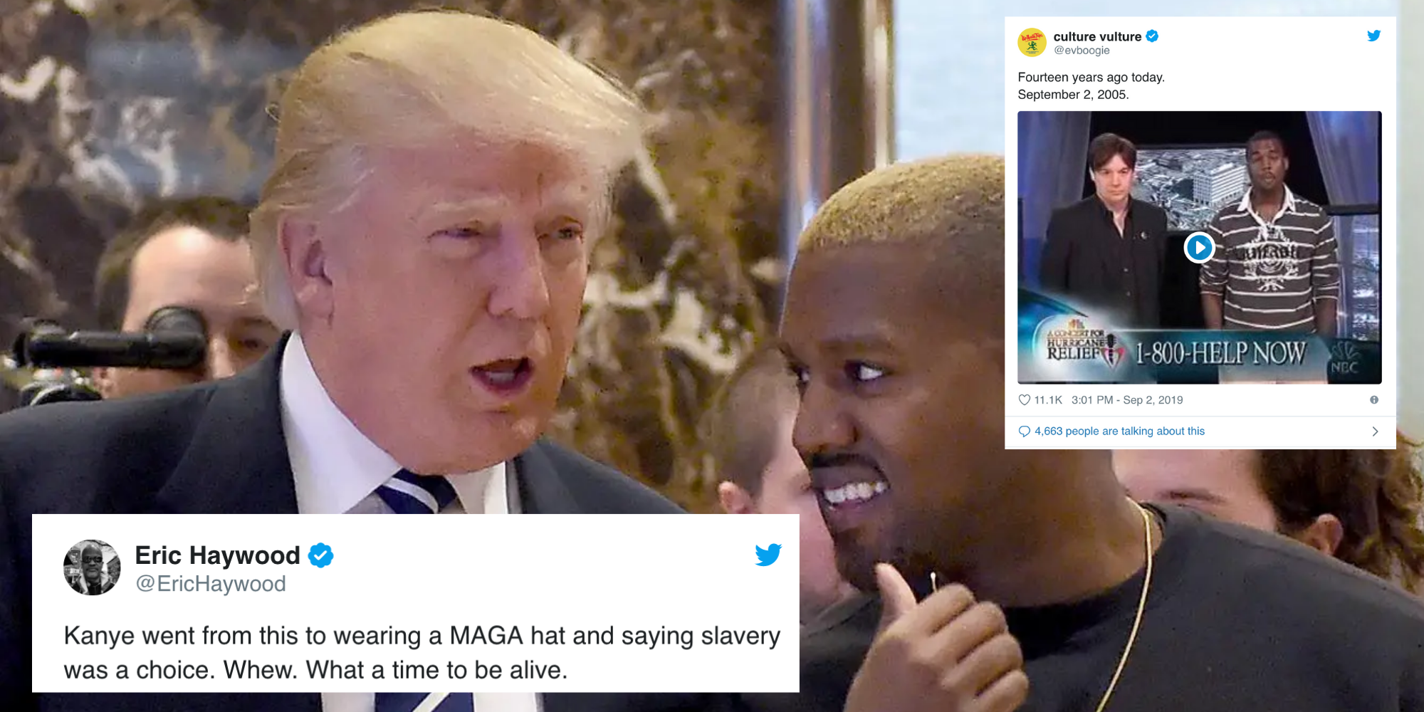 It's been 14 years since Kanye West said 'George Bush doesn't care about black people' and everyone misses old Kanye
