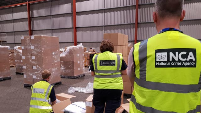 The UK's biggest-ever haul of heroin was discovered in a shipping container by National Crime Agency officers at Felixstowe, Suffolk, and seized the drugs once they arrived at a warehouse in Rotterdam, the Netherlands, 30 August 2019.