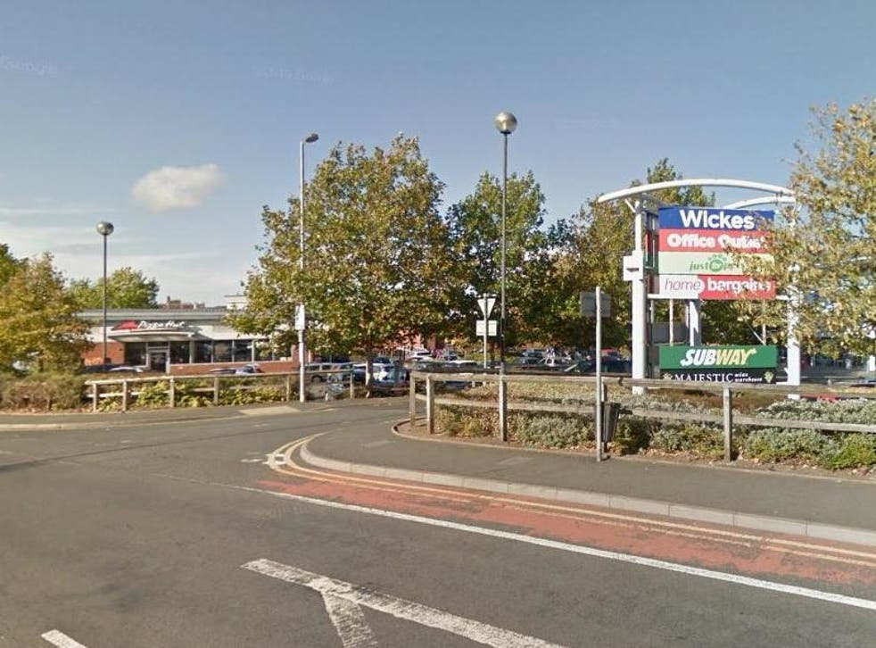 A mother and her child were attacked while crossing the road near a Pizza Hut in Worcester on Monday