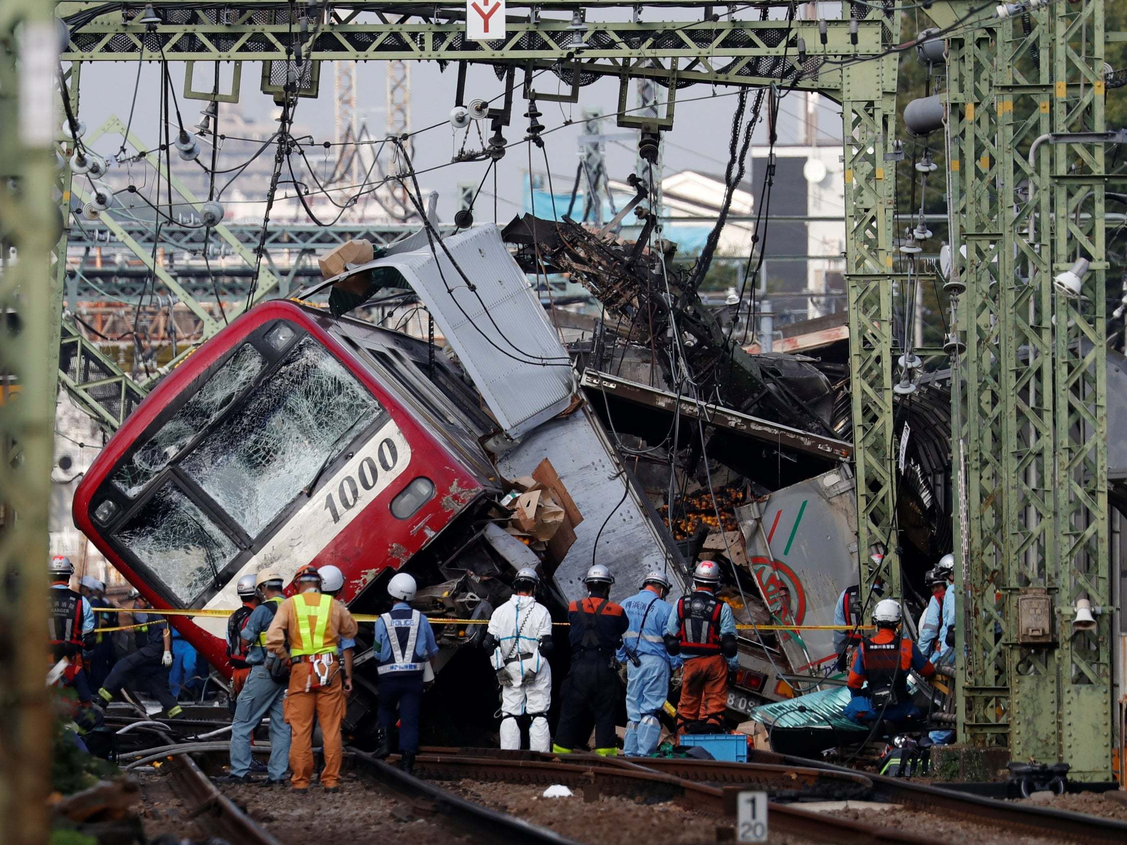 Japan train crash: Passenger express in fatal collision with