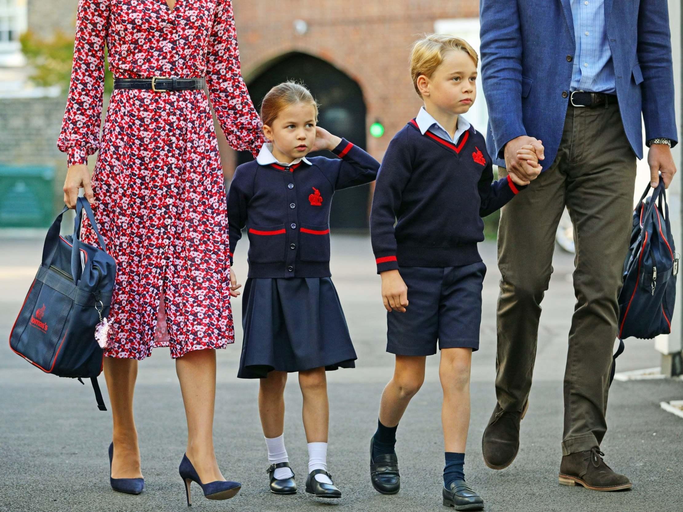 Αποτέλεσμα εικόνας για princess charlotte first day of school
