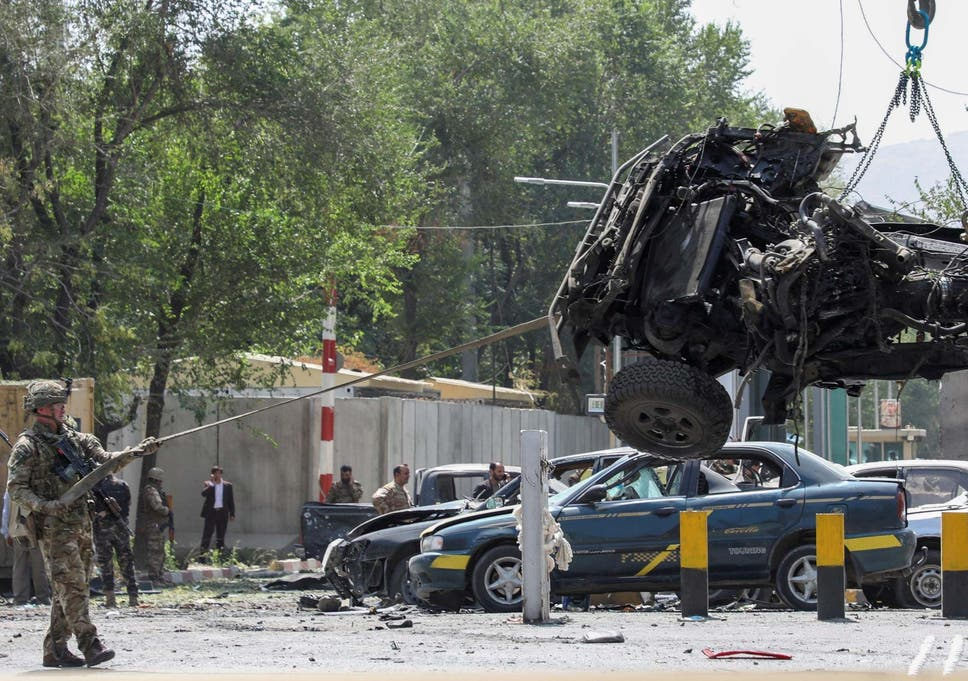 Kabul attack: Taliban suicide bomb targets foreigners near