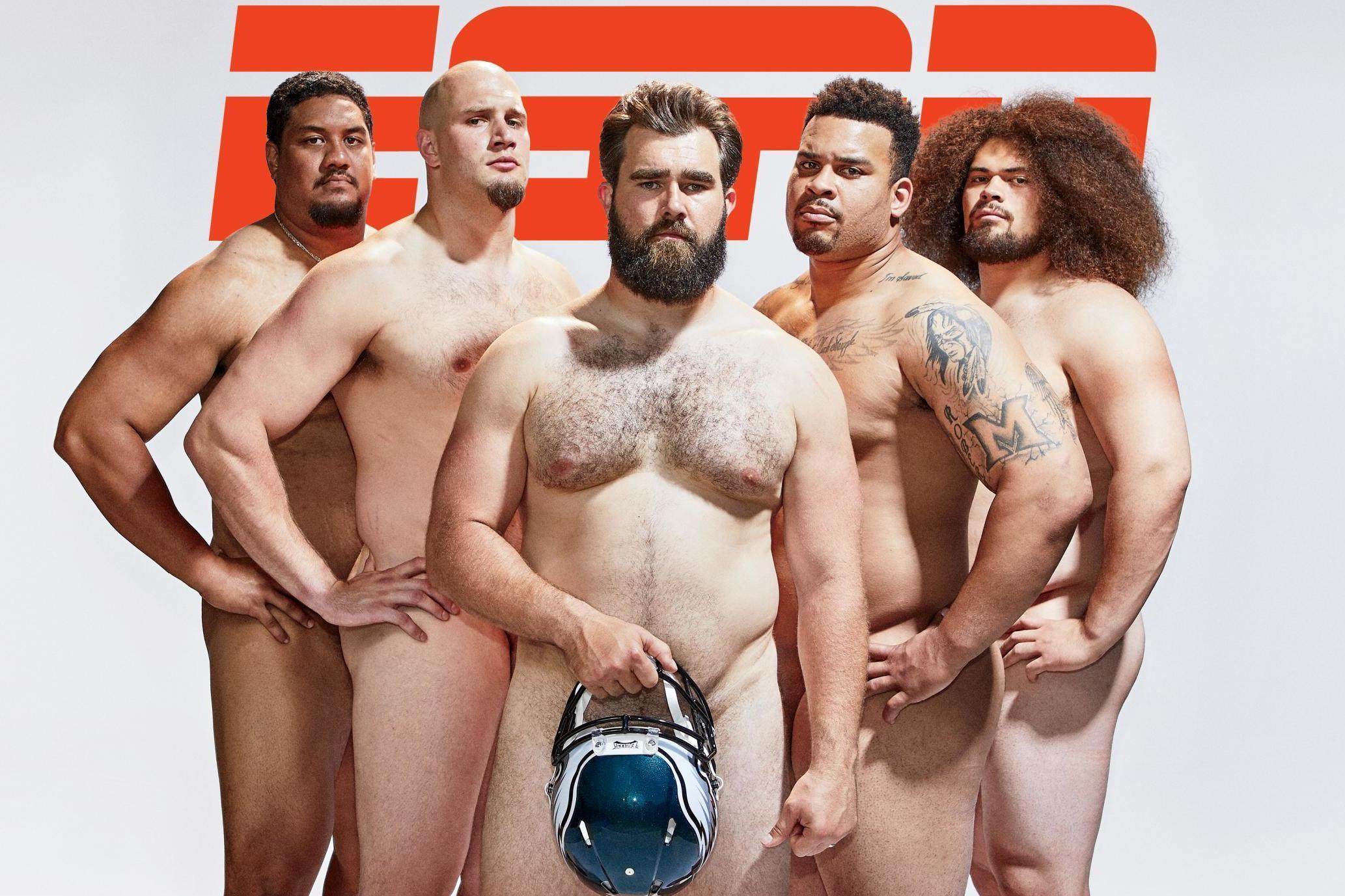 Philadelphia Eagles offensive linemen promote body positivity with nude photo shoot for ESPN's 'Body Issue'