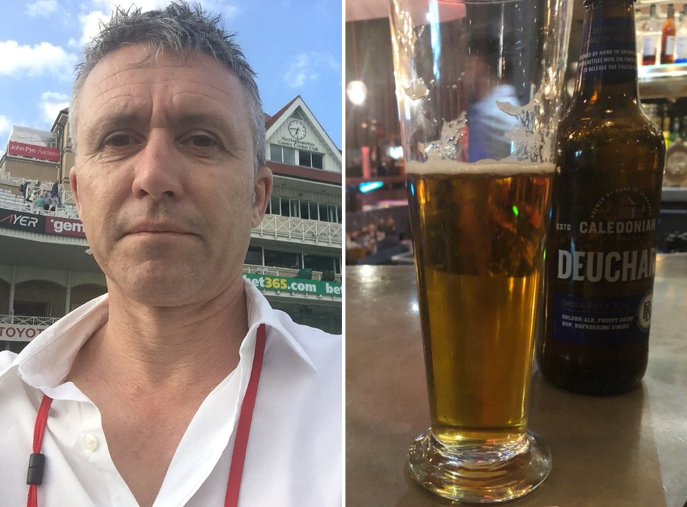Australian cricket journalist Pete Lalor was accidentally charged £55,000 for a bottle of beer at the Malmaison hotel in Manchester.