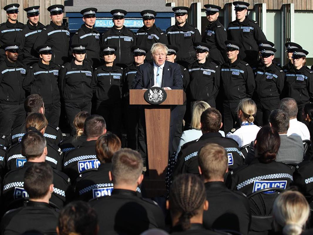 Boris Johnson lost his voice, then his backdrop collapsed. Next comes the P45, and this one won't be from a prankster