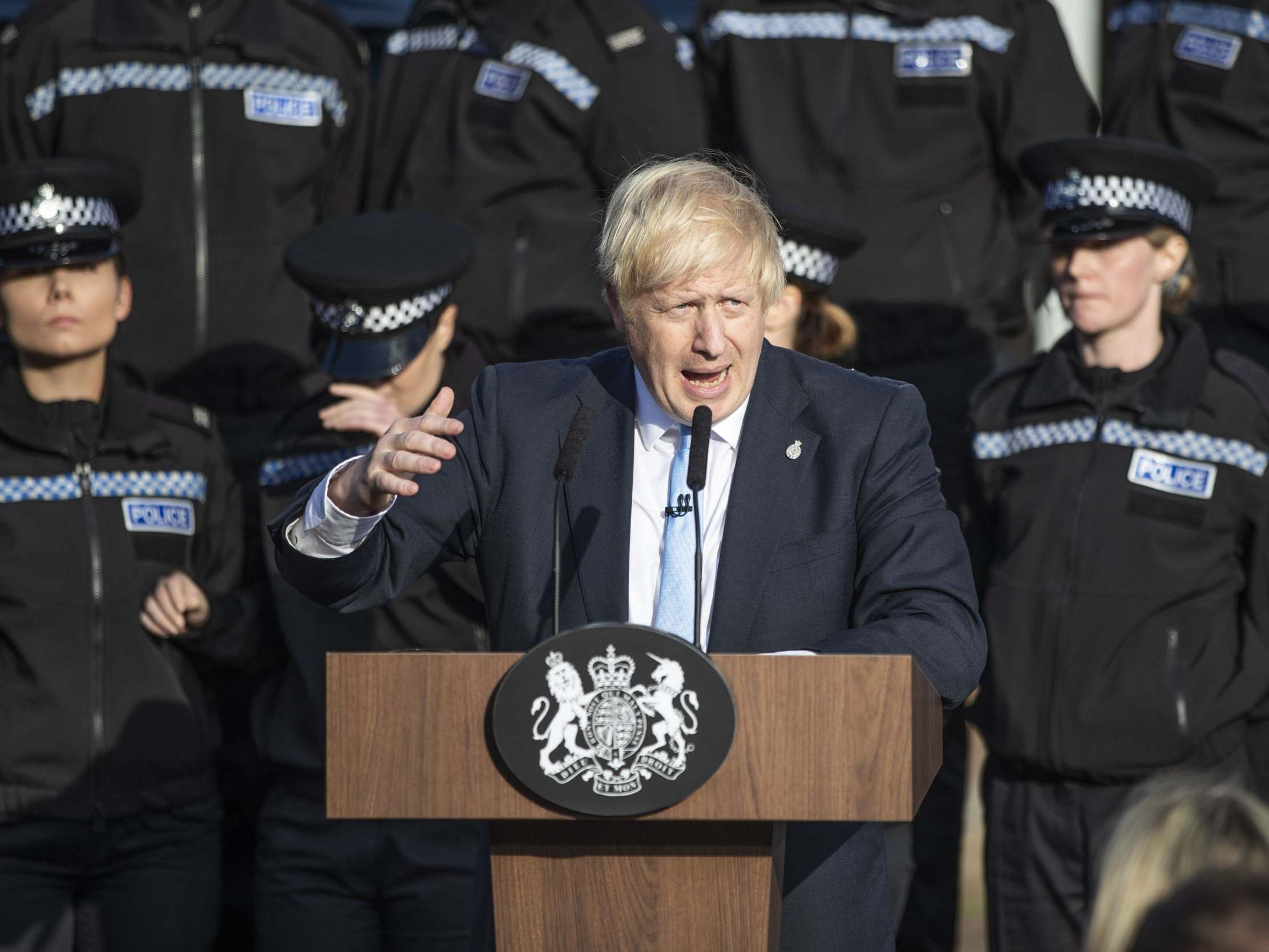 Police chief issues extraordinary condemnation of Boris Johnson for using 'my officers as a backdrop' 16