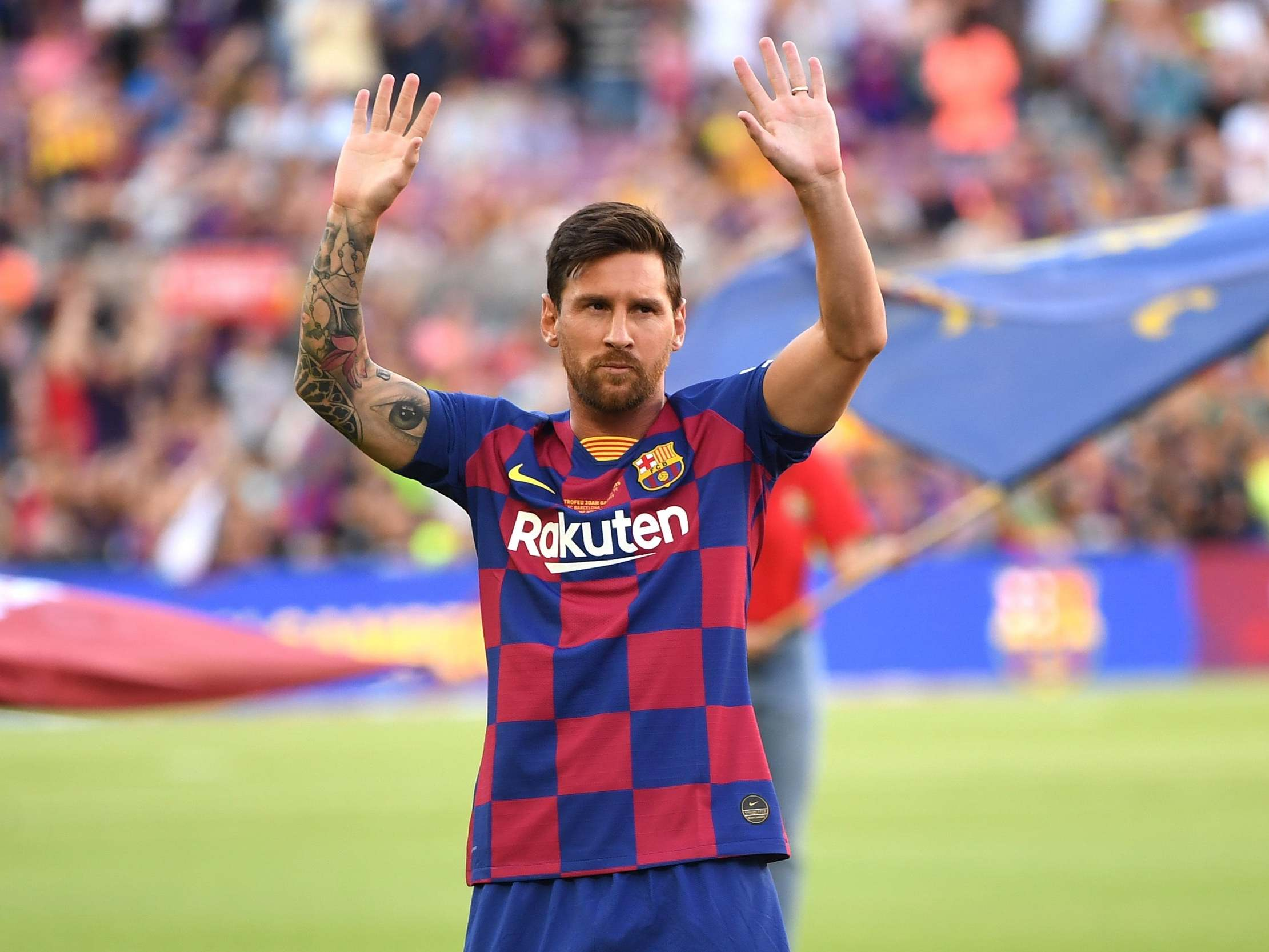 Lionel Messi transfer: Barcelona star responds to speculation he could leave Nou Camp for free next year