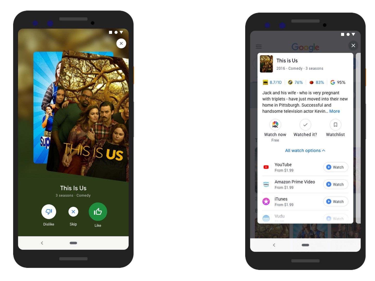 Google search tool lets you do Tinder-style swiping to find