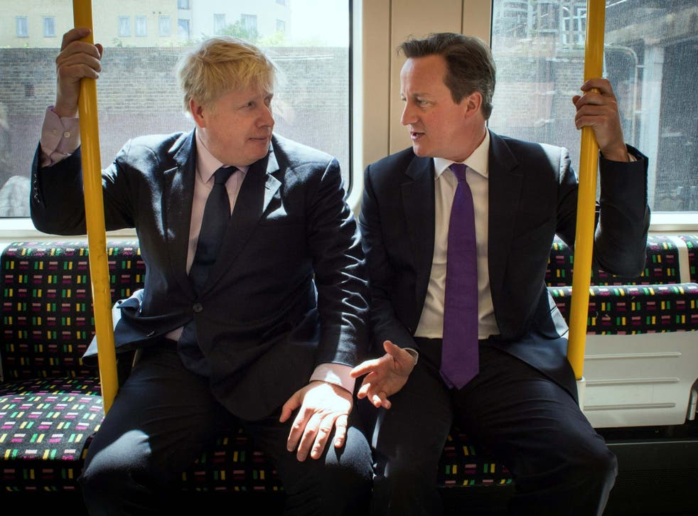 Boris Johnson mocked David Cameron in the note