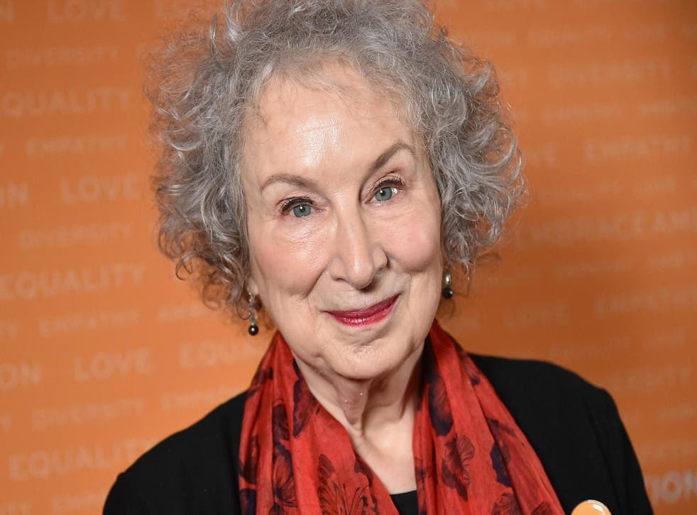 Margaret Atwood attends a summit on 24 April, 2018 in New York City.