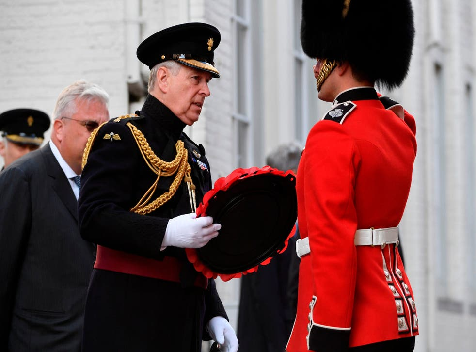 The Duke of York was present in his role as Colonel of the Grenadier Guards and laid a wreath at the Charles II memorial