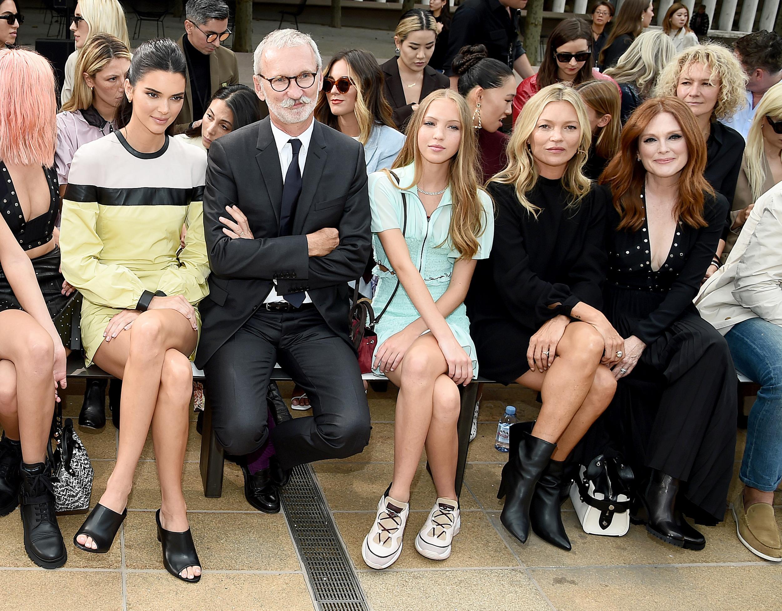 Kendall Jenner, Jean Cassegrain, Lila Moss, Kate Moss, and Julianne Moore