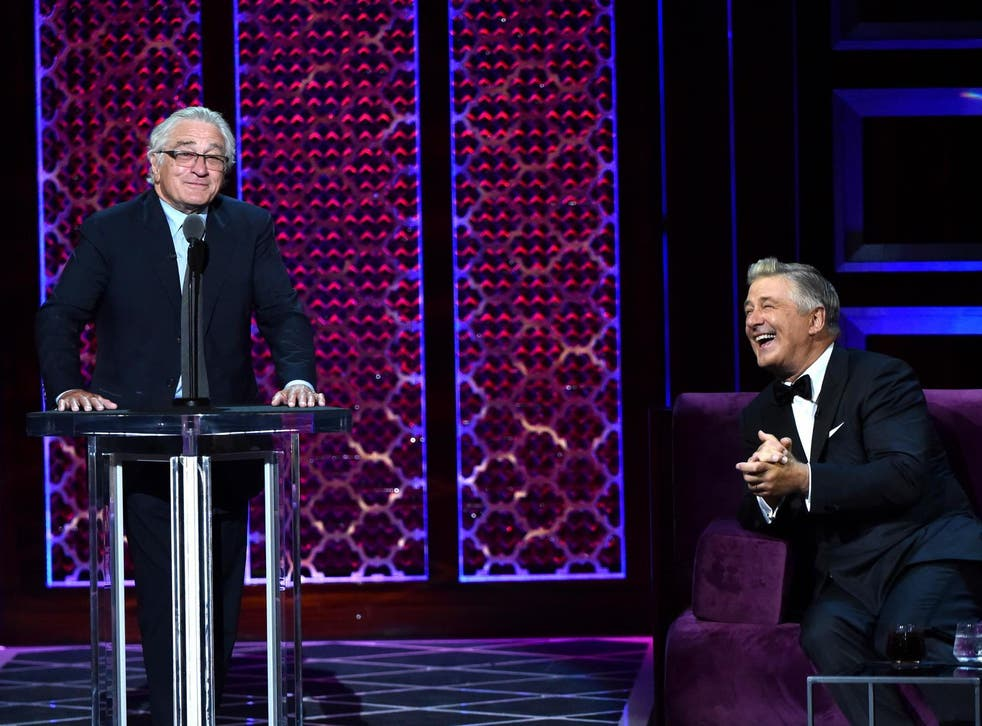 Robert De Niro made a surprise appearance at the Comedy Central Roast of Alec Baldwin