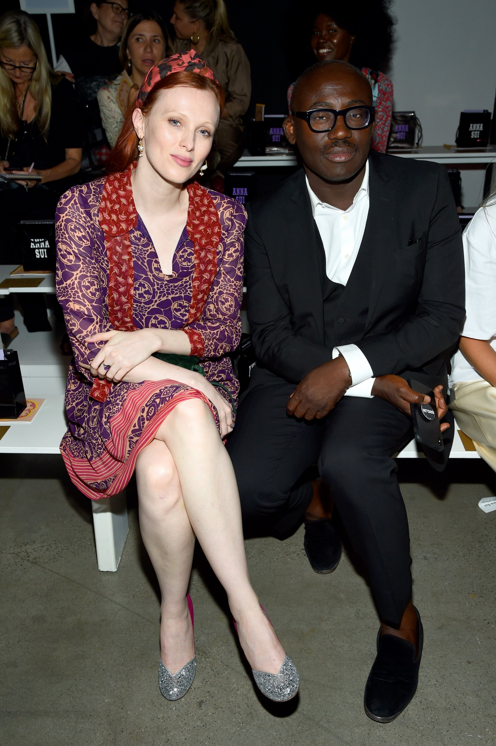 Karen Elson and Edward Enninful