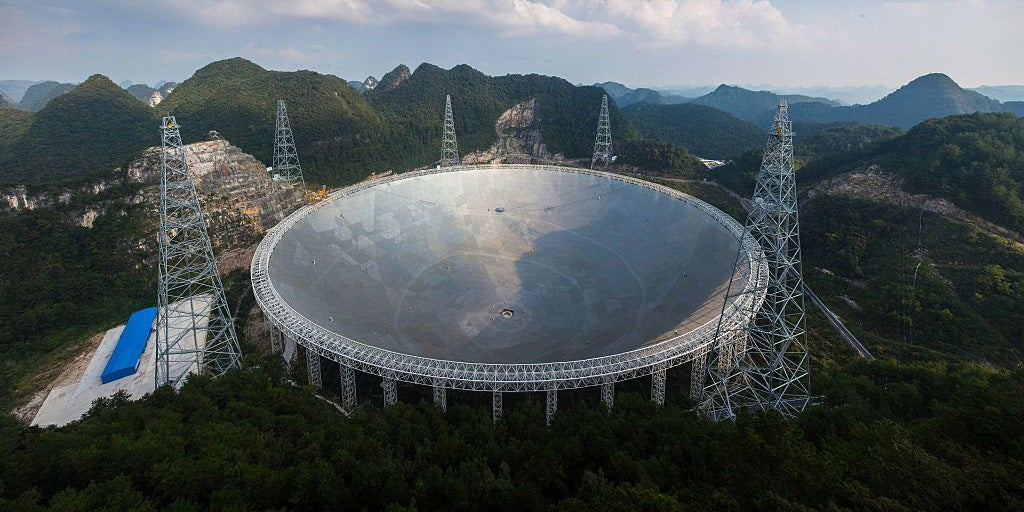 China's biggest telescope is receiving mysterious signals from three…