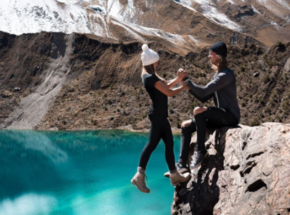 The couple received criticism for this daring shot