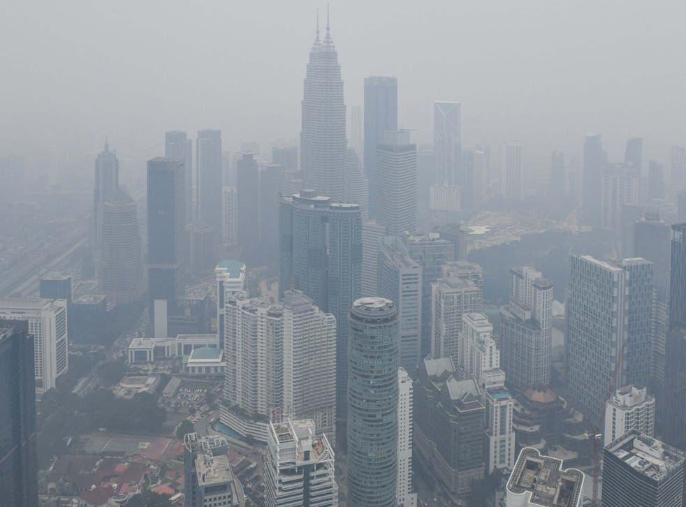 Kuala Lumpur is shrouded in haze
