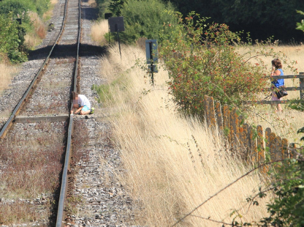 Train driver forced to brake to avoid hitting small boy playing on steam railway line
