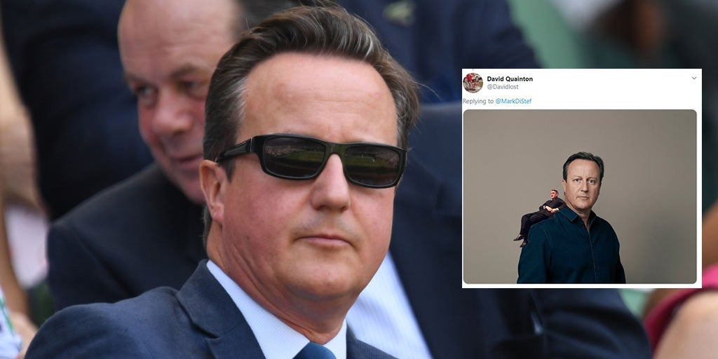 David Cameron posed in front of a blank background and the Photoshops were too easy to resist