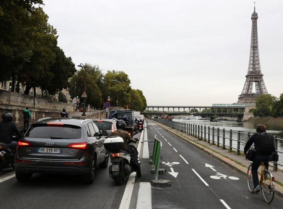 People in Paris were forced to drive, cycle, walk or work from home due to the public transport strikes