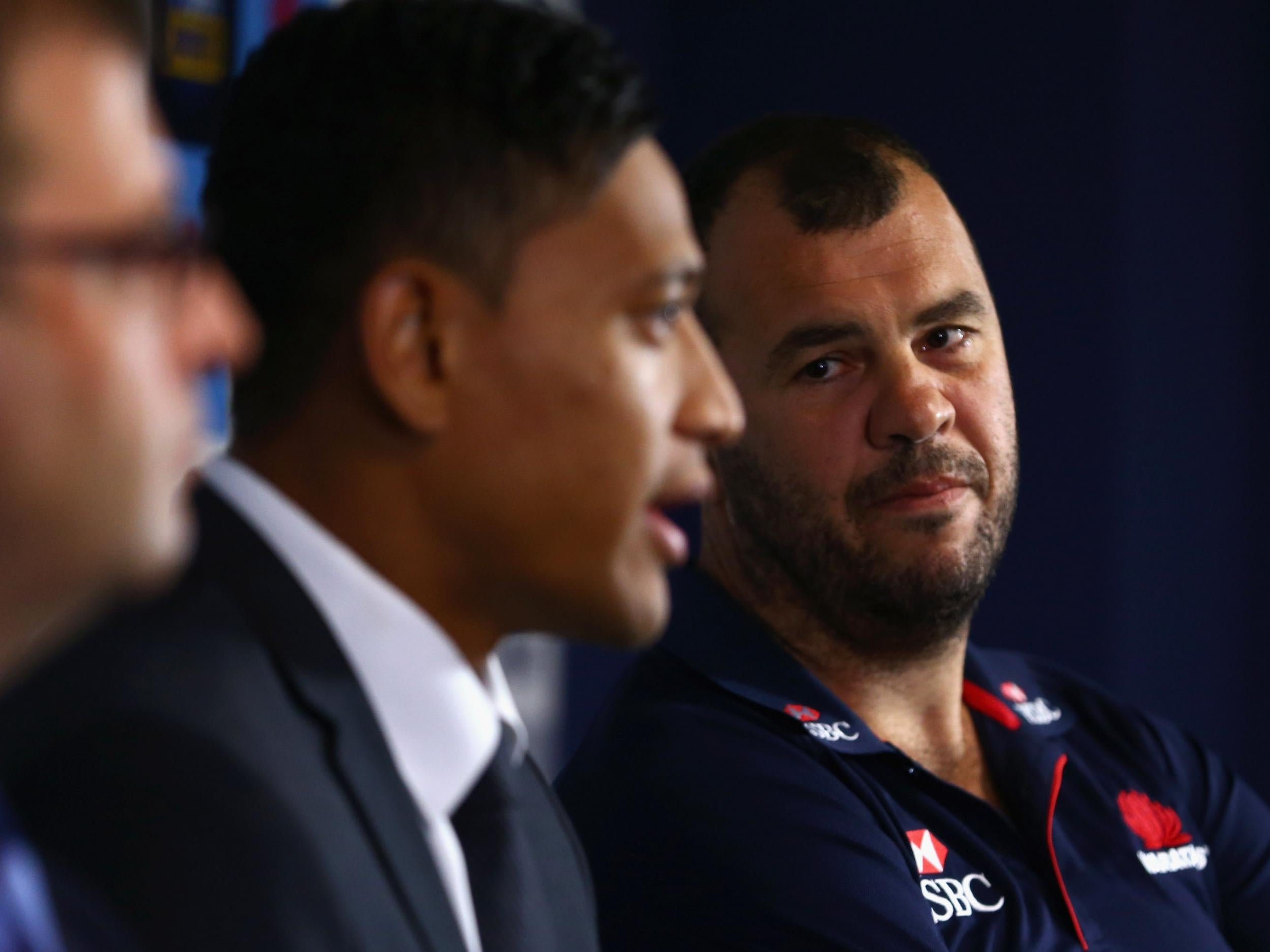 Israel Folau: Australia coach Michael Cheika reveals he received threats after full-back's contract was terminated
