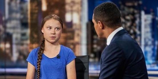 Greta Thunberg praised following inspirational interview with Trevor Noah