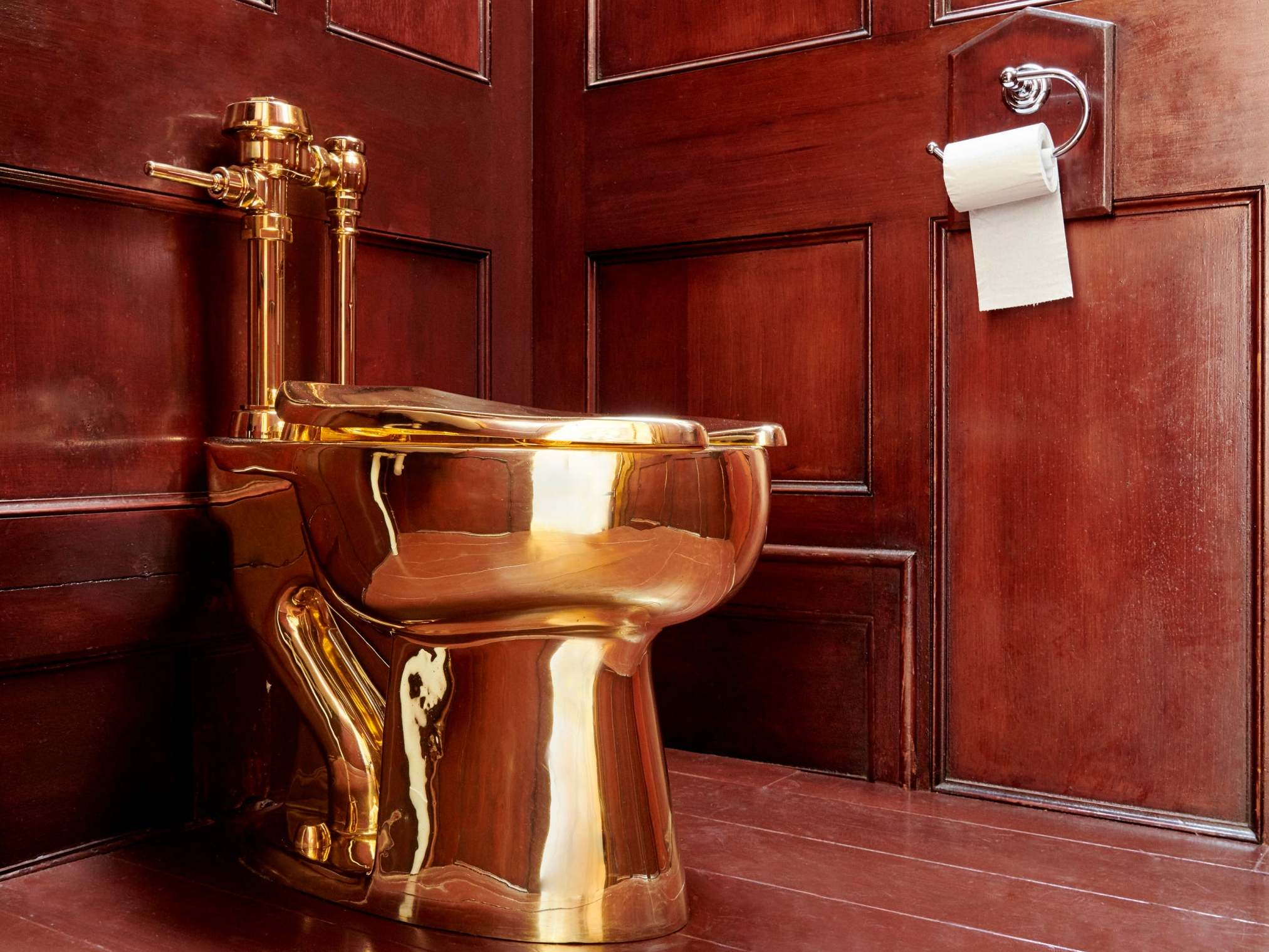 'I wish it was a prank': Artist behind £4.8m golden toilet denies orchestrating theft from Churchill's birthplace
