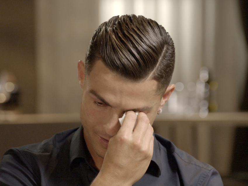 Cristiano Ronaldo: Juventus superstar breaks down in tears after being shown footage of late father