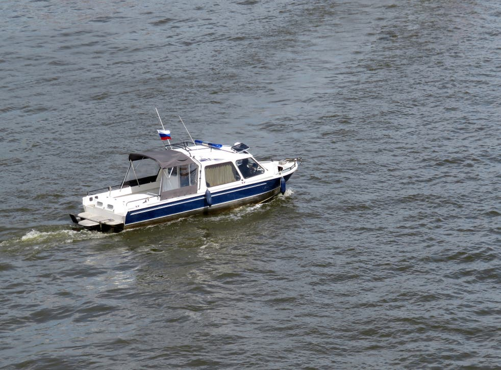 Russia patrol guards have detained two ships trespassing in its territorial waters.