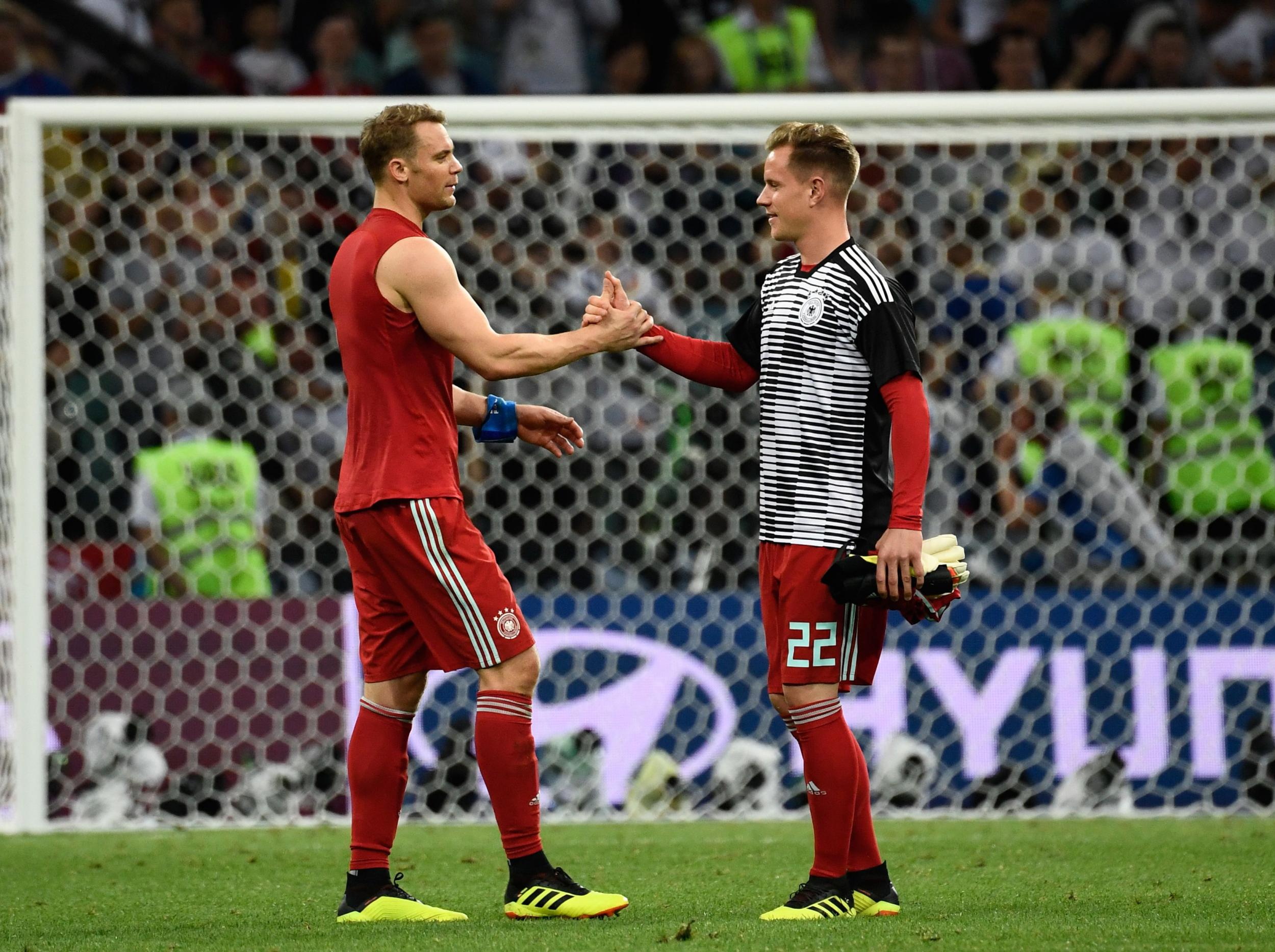 Image result for neuer and ter stegen