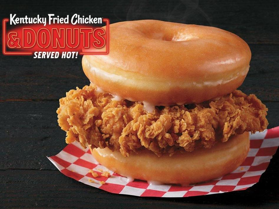 KFC testing fried chicken and doughnut burger in US 1