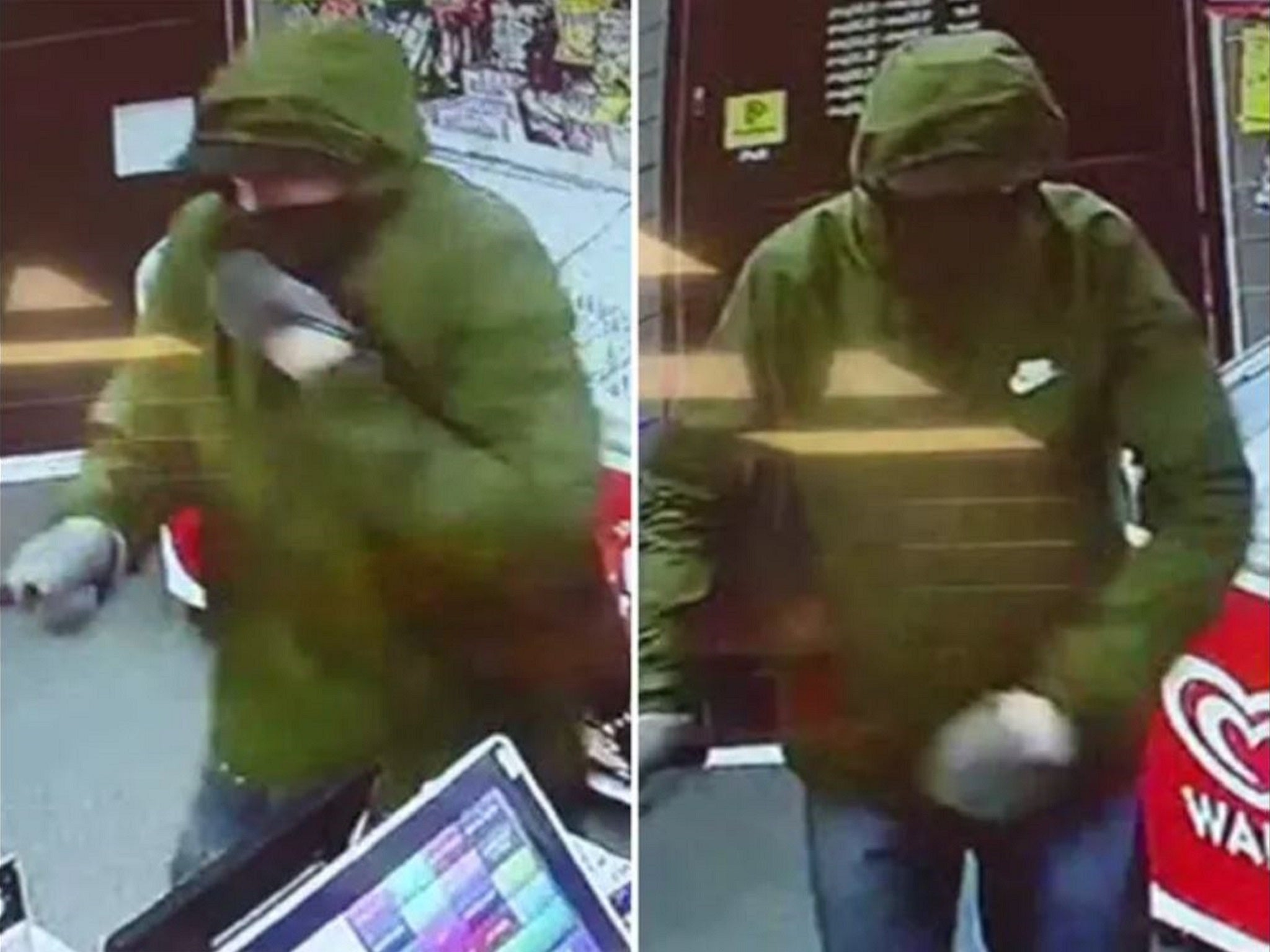 Armed robber scared off by little girl throwing loaf of bread at him