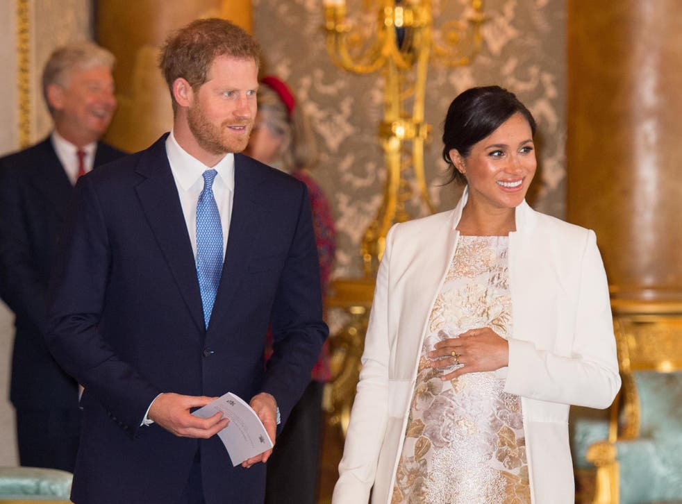 Prince Harry, Duke of Sussex, and Meghan Markle, Duchess of Sussex, at Buckingham Palace, 5 March 2019.