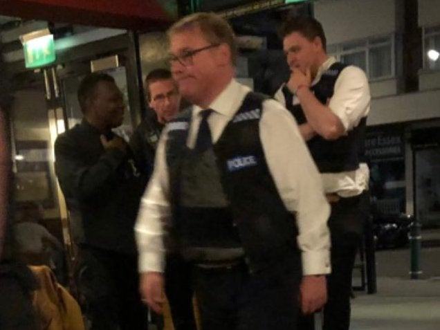 Brexiteer Tory MP spotted wearing police uniform in Wetherspoons