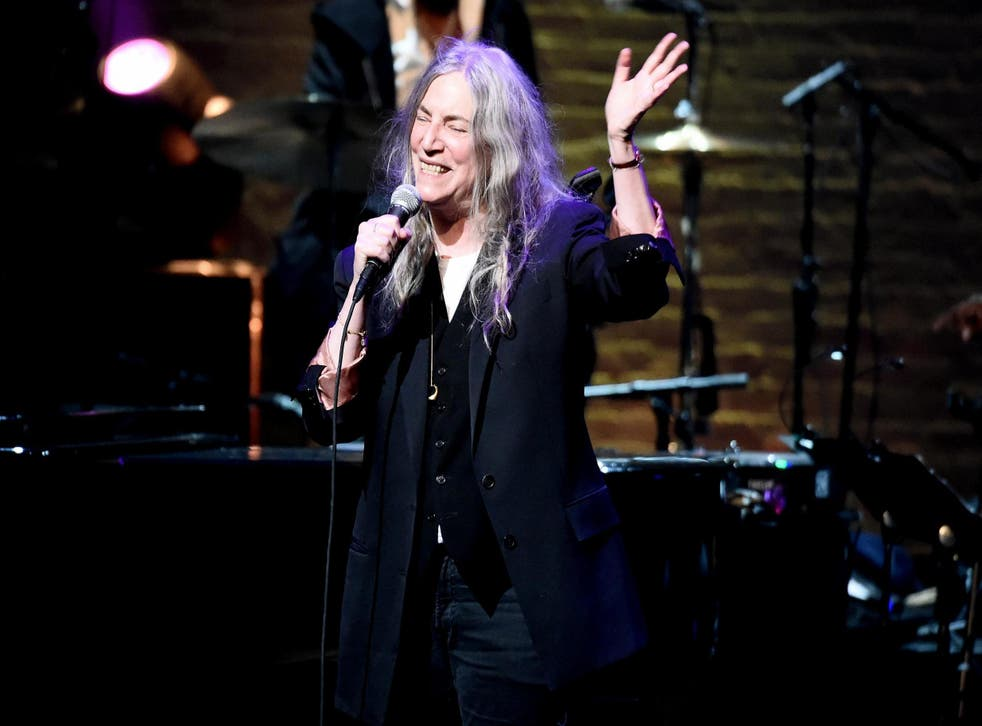 Patti Smith performs the 17th Annual A Great Night In Harlem at The Apollo Theater on 4 April, 2019 in New York City.