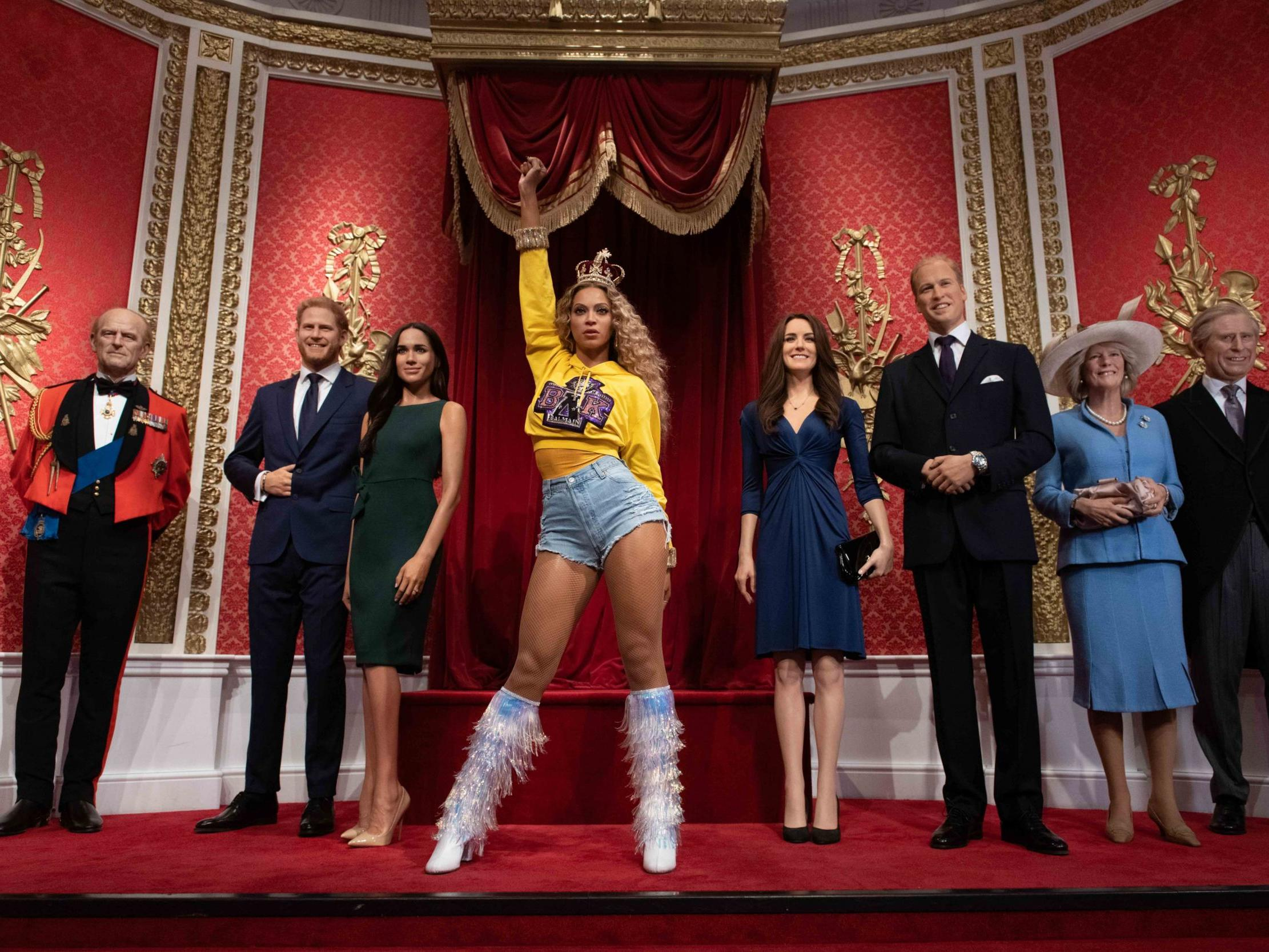 Beyoncé waxwork unveiled next to royal family at Madame Tussauds as 'official music royalty'