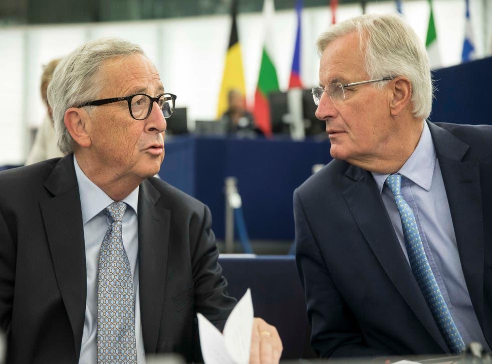 Jean-Claude Juncker and his chief negotiator Michel Barnier