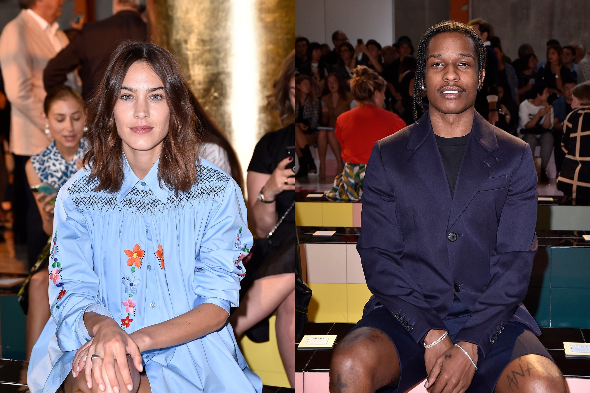 Alexa Chung and A$AP Rocky grace the Frow at Milan Fashion Week