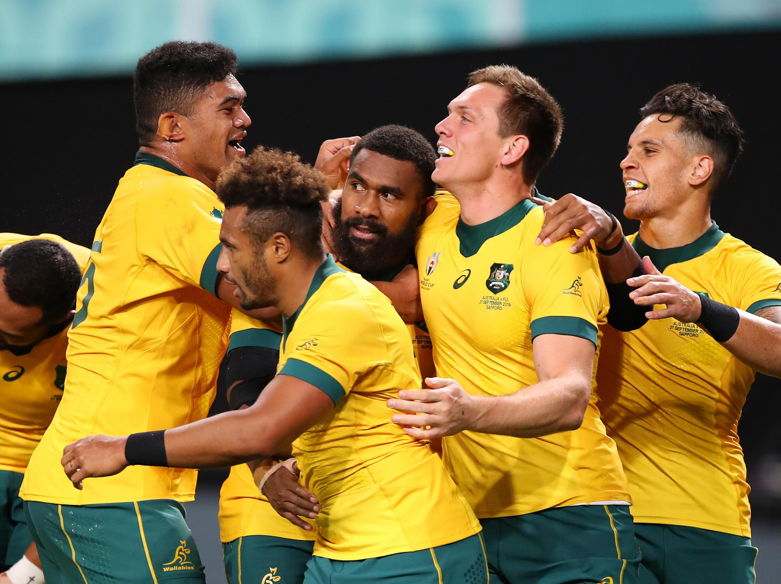 Rugby World Cup 2019 Australia Battle Back To Beat Fiji 39 21 The Independent The Independent