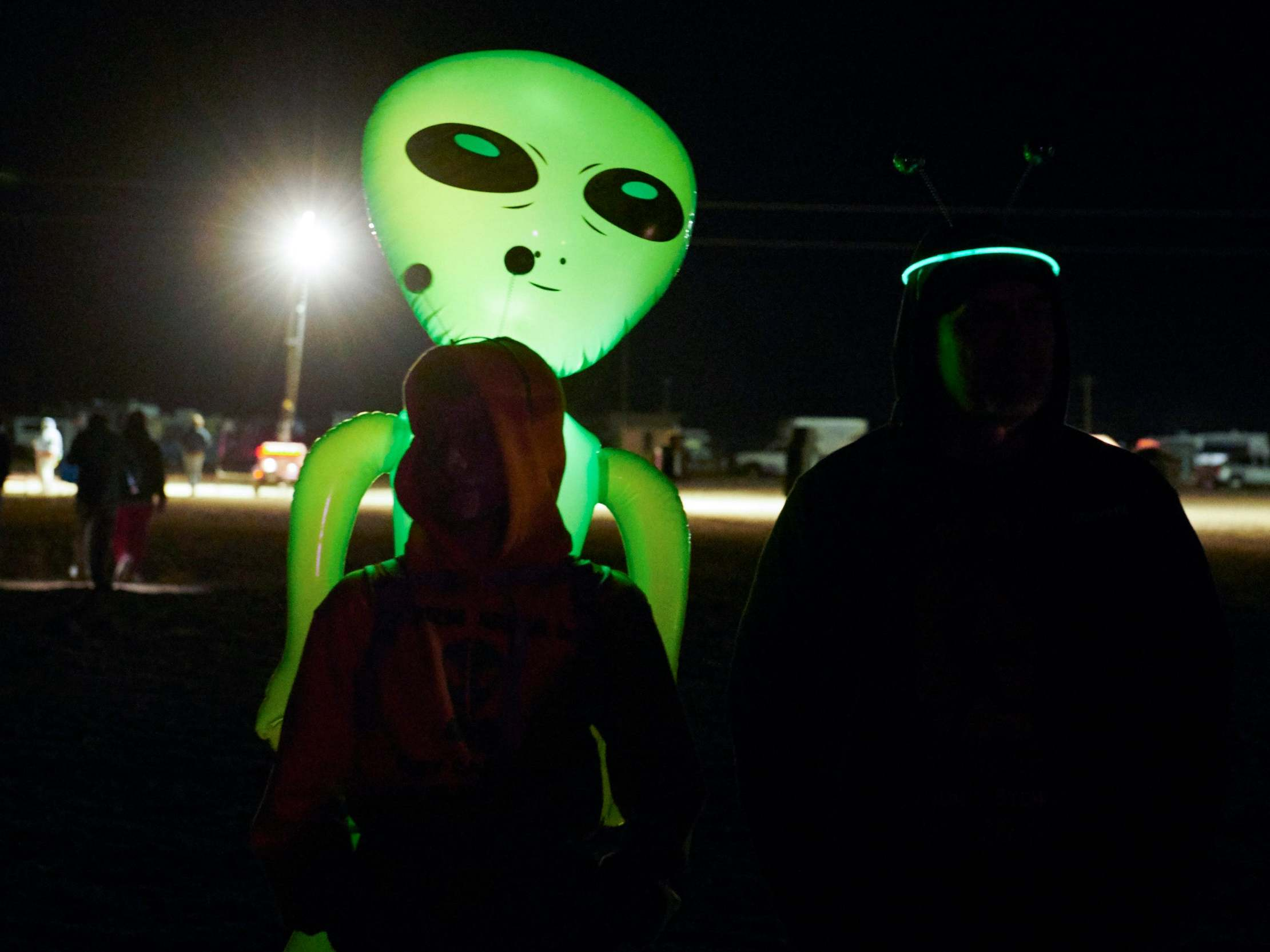 Storm Area 51: World-famous DJ performs to crowd of 100 alien-chasers because 'I do believe there's something out there'