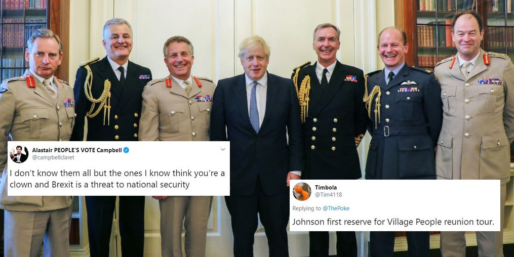 Boris Johnson posed with military chiefs and the jokes wrote themsel…