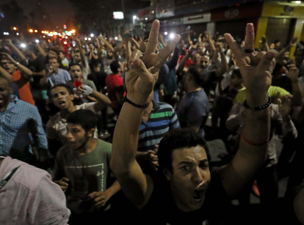 Protesters create a rare sight of dissent in Abdel Fattah el-Sisi's Egypt as they demonstrate in Cairo in September