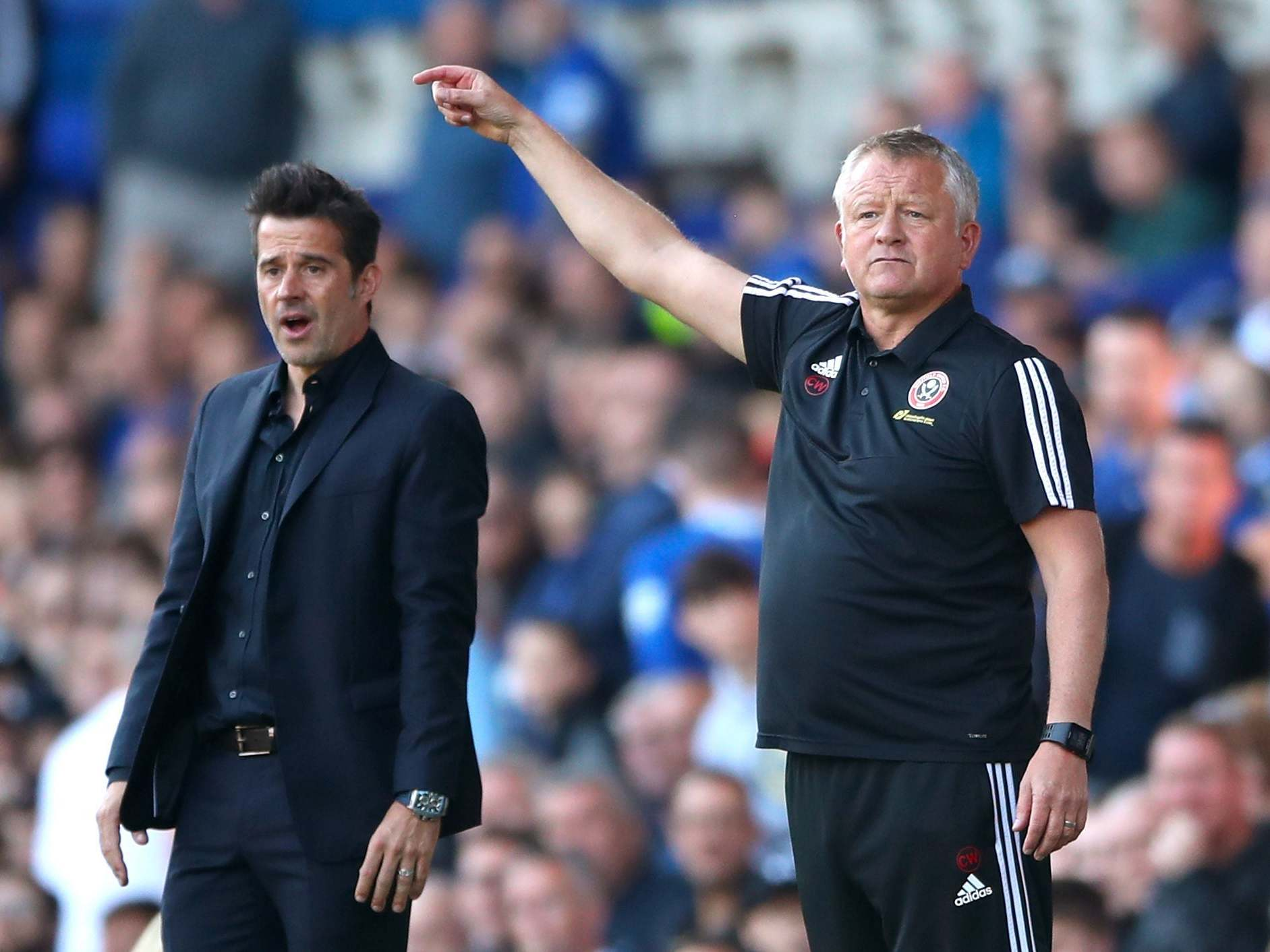 Everton manager Marco Silva under pressure after defeat by Sheffield United while Burnley beat Norwich