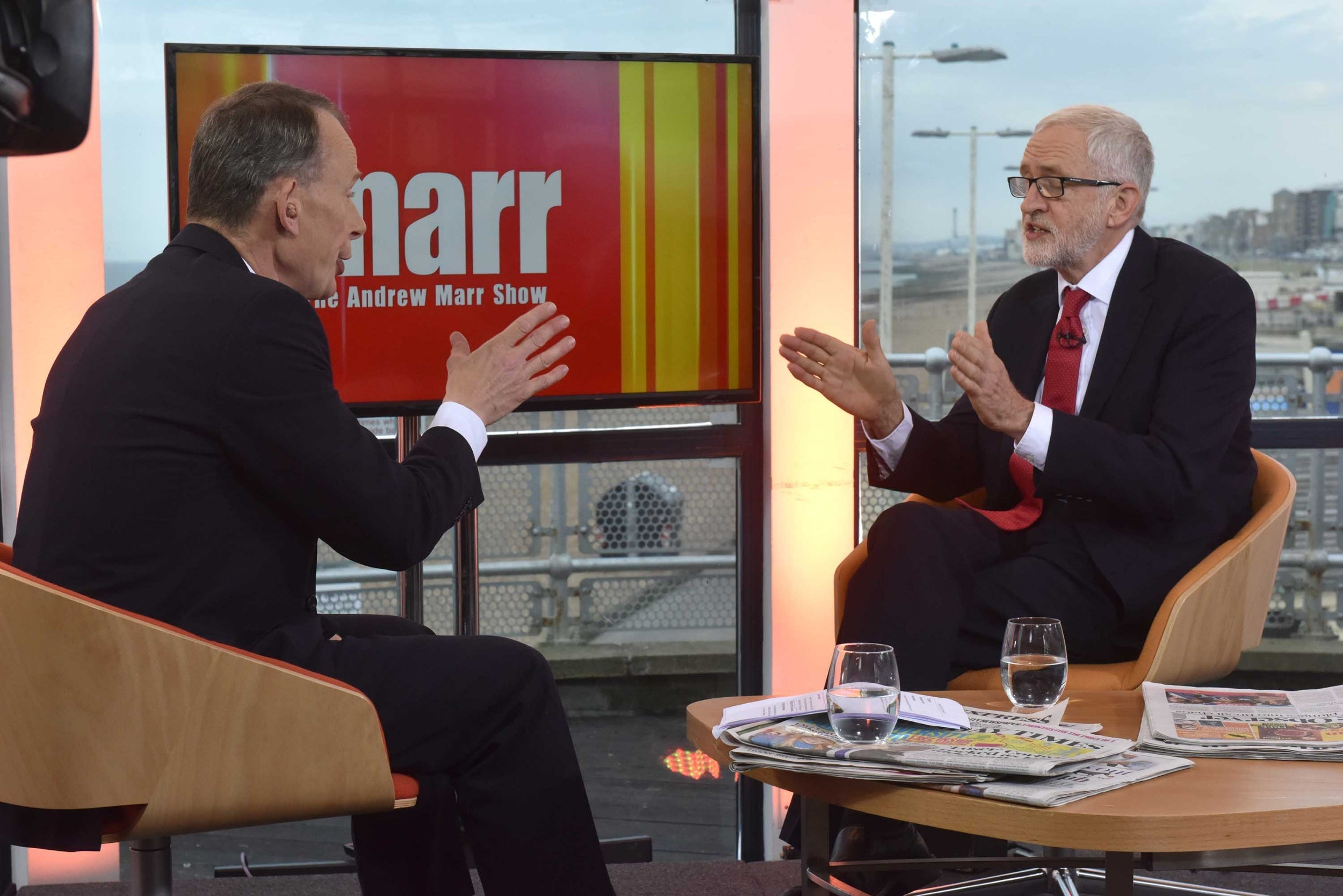 'They close ranks': Jeremy Corbyn accuses Andrew Marr of establishment bias after BBC interview