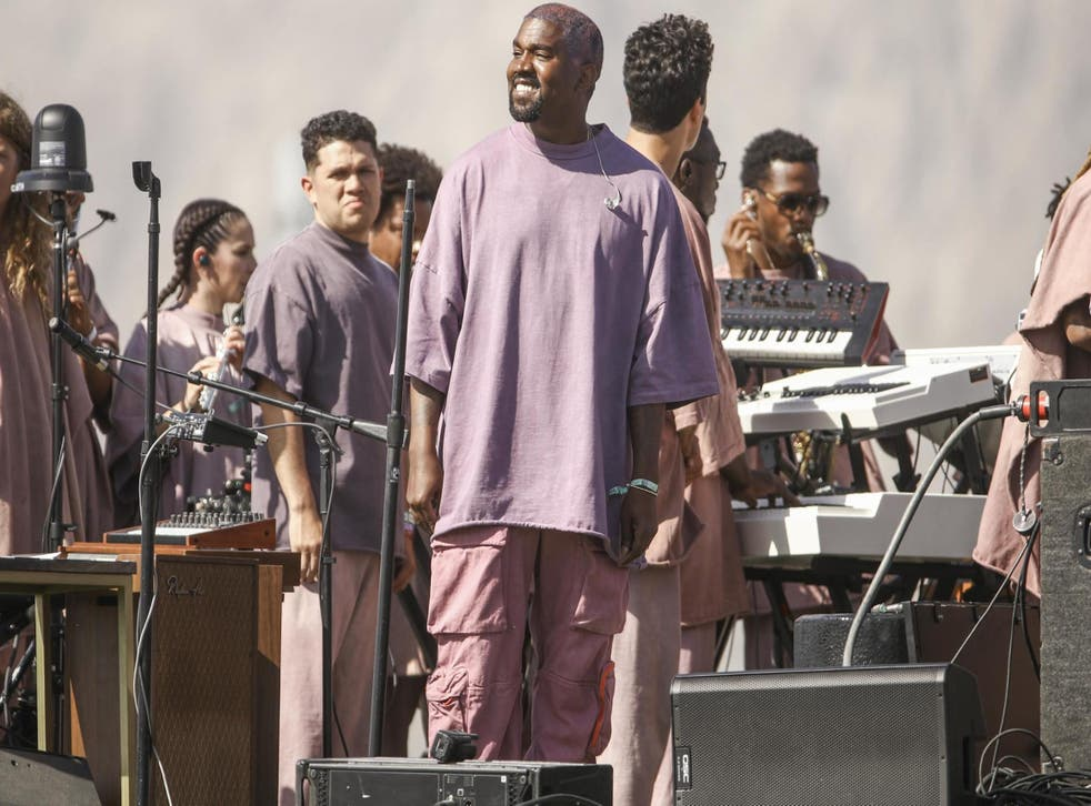 Kanye West performs Sunday Service during the 2019 Coachella Valley Music And Arts Festival on 21 April, 2019 in Indio, California.