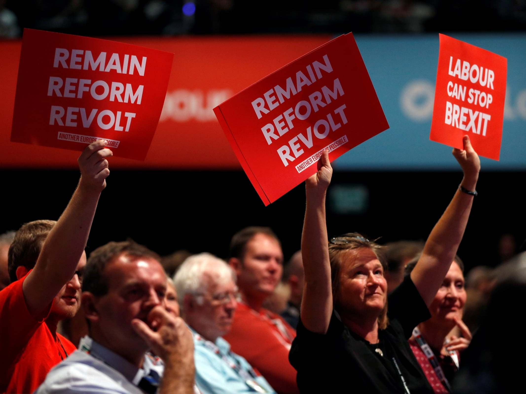 Labour conference votes against commitment to back Remain in new Bre…